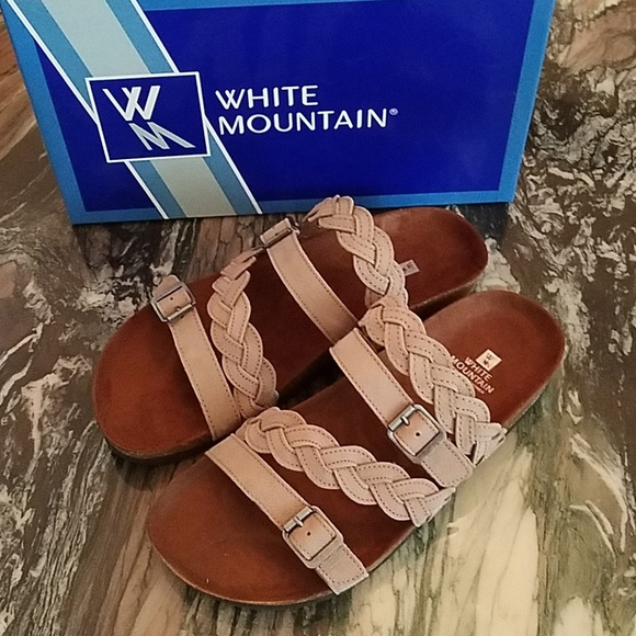 25ae1c599700 White Mountain Holland Grey Leather Sandals